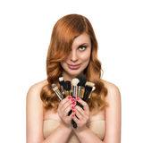 Beautiful woman with perfect skin and beauty hairstyle Royalty Free Stock Photo