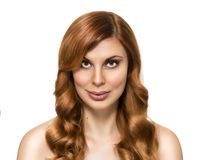 Beautiful woman with perfect skin and beauty hairstyle Royalty Free Stock Photos