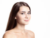 Beautiful woman with perfect skin and face Royalty Free Stock Image