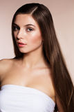 Beautiful woman with perfect skin and long hair Stock Photo