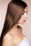 Beautiful woman with perfect skin and long hair Royalty Free Stock Photography