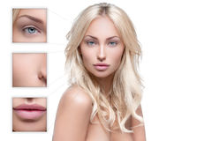 Beautiful woman with perfect skin Stock Images