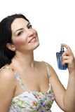 Beautiful woman and perfume royalty free stock images
