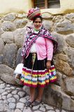 Beautiful woman in Peruvian costume Royalty Free Stock Images