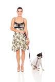 Woman pet dog Stock Photography