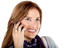 Beautiful woman on the phone Royalty Free Stock Photos