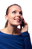 Beautiful woman on the phone. Stock Photo