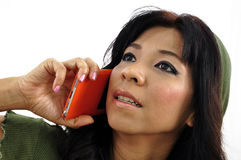 Beautiful woman on the phone Royalty Free Stock Photo