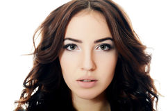 beautiful sensual woman with long hair Royalty Free Stock Image