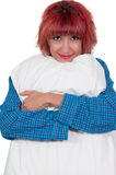 Beautiful Woman with a pillow Stock Photography
