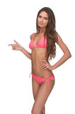 Beautiful woman in pink bikini. Stock Photography