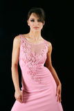 Beautiful woman in pink dress Royalty Free Stock Photography
