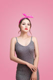 Beautiful woman pinup style portrait. Asian woman. Stock Image