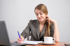 Beautiful woman planning work Royalty Free Stock Images