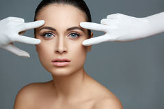 Beautiful Woman before Plastic Surgery Operation Cosmetology. Be Stock Image