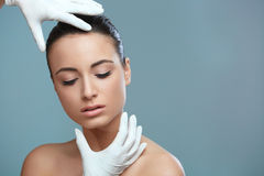 Beautiful Woman before Plastic Surgery Operation Cosmetology. Be Royalty Free Stock Photos