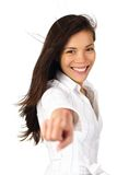 Beautiful woman pointing Royalty Free Stock Image