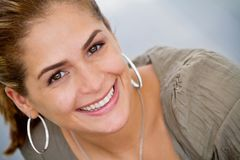 Beautiful woman portrait Stock Images