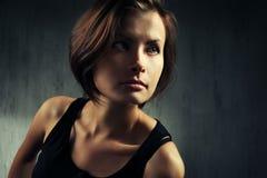 Beautiful woman portrait. Studio shot Stock Image