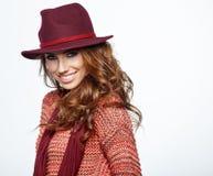 Beautiful  woman portrait in autumn color. Studio shoot Stock Image