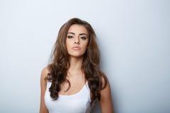 Beautiful Woman Portrait. Beauty Girl. Fresh Skin Royalty Free Stock Photography