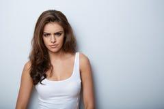 Beautiful Woman Portrait. Beauty Girl. Fresh Skin Stock Image