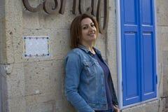 Beautiful Woman Portrait in Cesme,Turkey Royalty Free Stock Photo
