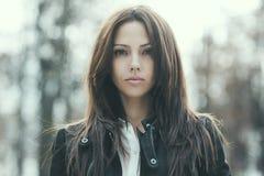 Beautiful woman portrait - close up Royalty Free Stock Image