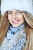 Beautiful woman portrait close up - outdoors Royalty Free Stock Images