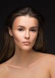 Beautiful woman portrait face studio. fashion photo, vogue style Royalty Free Stock Image