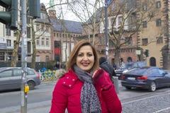 Beautiful Woman Portrait in Frankfurt,Germany Stock Image