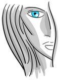 Beautiful woman portrait in grey tones  Stock Photography
