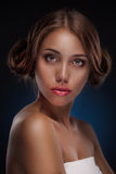 Beautiful Woman Portrait. Hairstyle Royalty Free Stock Images
