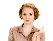 Beautiful woman portrait - nice Royalty Free Stock Photography