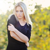 Beautiful woman portrait outdoor Stock Photography