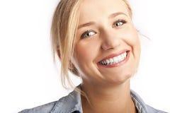 Beautiful woman portrait over white white Stock Image