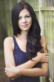Beautiful woman portrait in park Stock Photo
