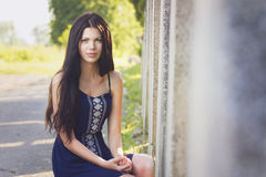 Beautiful woman portrait in park Stock Photography