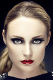Beautiful woman portrait with perfekt Make Up Royalty Free Stock Photography