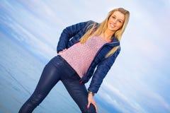 Beautiful woman portrait at the sea Stock Photo