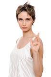 Beautiful woman portrait - serious Royalty Free Stock Photo