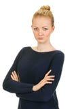 Beautiful woman portrait - serious Stock Photography