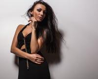 Beautiful woman pose in studio. Stock Image