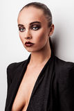 Beautiful woman pose in studio. Vogue style photo. Stock Image