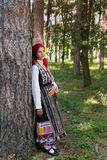 Beautiful woman posing in Bulgarian dress Stock Image