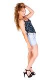 Beautiful woman posing in full profile Stock Photography