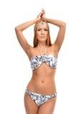 Beautiful woman posing in modern bikini swimsuite Stock Photography