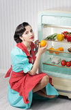 Sixties refrigerator advertising Royalty Free Stock Image