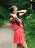 Beautiful woman posing outdoors Stock Photography