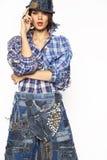 Beautiful woman posing in the studio. Girl posing in the studio photo shoot stock photos
